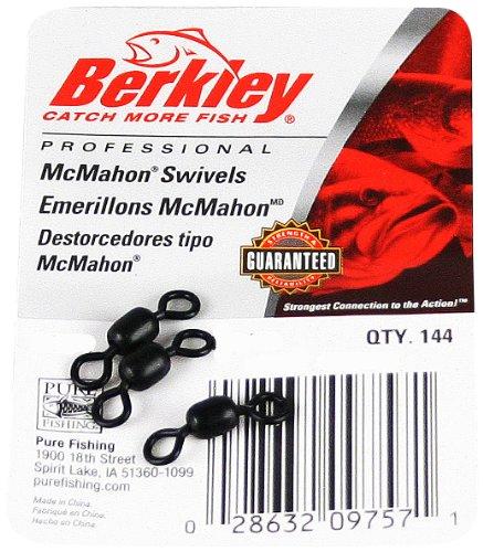 Berkley G10SB Brass Plated McMahon Swivels , Black, Size-10