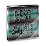 Best Aunt Admiration Respect Acrylic Office Mini Desk Plaque Ornament Paperweight