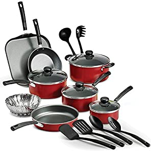 18 Piece Nonstick Pots & Pans Cookware Set Kitchen Kitchenware Cooking NEW