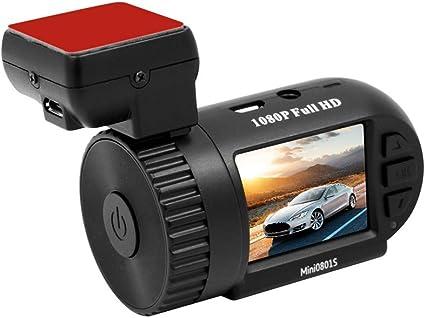 KKmoon Super Mini 1080P HD Dash CAM 801 1,5 Pulgadas LCD Pantalla Coche DVR GPS Tracker Soporte cámara de Marcha atrás con Super Condensador sin batería: Amazon.es: Coche y moto