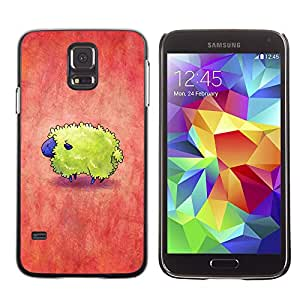Paccase / SLIM PC / Aliminium Casa Carcasa Funda Case Cover para - Colorful Red Yellow Cute Tiny - Samsung Galaxy S5 SM-G900