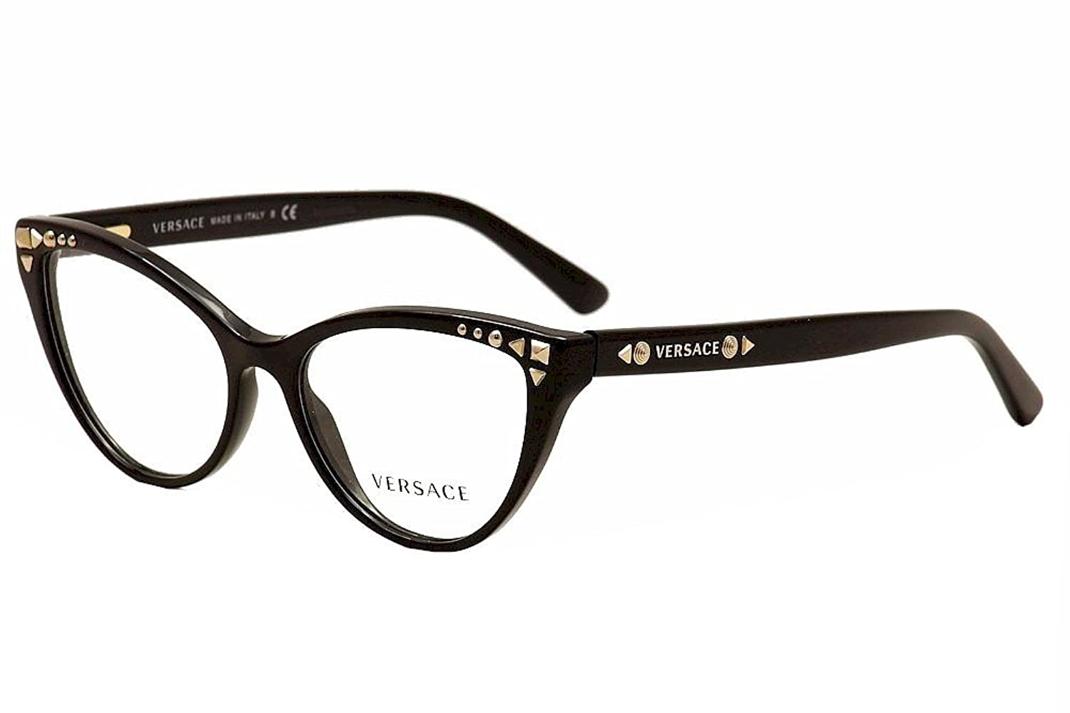 amazoncom versace ve3191 eyeglasses gb1 black 52mm shoes