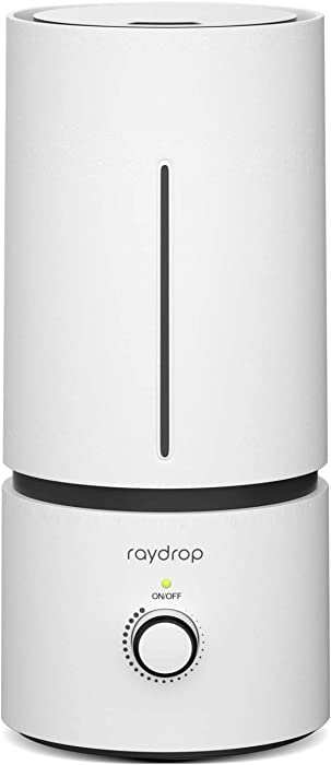 raydrop Cool Mist Humidifiers for Babies, 1.70 L Quiet and Small Ultrasonic Humidifier for Bedroom Nightstand, Space-Saving, Auto Shut Off-(0.45 Gallon, US 110 V)