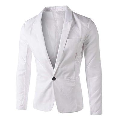 Hommes Slim Matching One Button Élégant Vestes Costume Style Simple Manteau  Blazer Costume Casual Vestes 1 127bb96aa3f