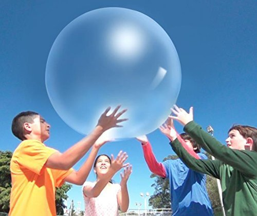 51dopj9SRfL - WUBBLE The Amazing Tear-Resistant Super Bubble Ball with Pump - Boing Blue