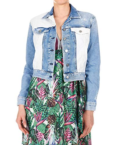 (Pepe Jeans Women's Pl401666000denim Blue Cotton Jacket)