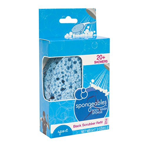 Spongeables 40 Plus Back Scrub Infused Sponge Refills wit...