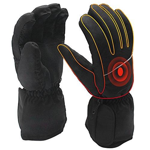QILOVE Battery Heated Gloves,Men Women Hand Warmer Winter Outdoor Motocycle Hunting Glove Winter