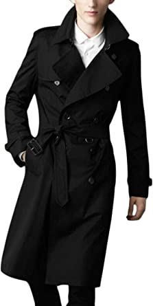 XiaoTianXinMen XTX Men Hooded Lightweight Mid Length Full-Zip Casual Trench Coat Windbreaker Jacket Grey L