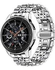 Shieranlee kompatibel med Galaxy Watch4 Classic 46 mm metallrem, 22 mm rostfritt stål metall klockarmband för Samsung Galaxy Watch 46 mm, Gear S3 Frontier Classic, Galaxy Watch 3 45 mm