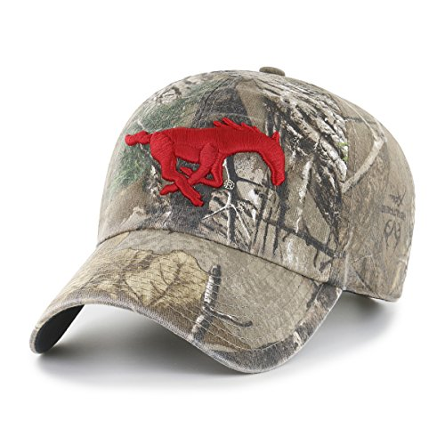 NCAA Smu Mustangs Realtree OTS Challenger Adjustable Hat, Realtree Camo, One Size