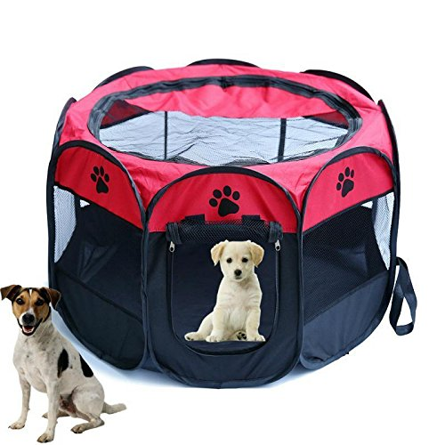 10 opinioni per Tenda box per cagnolini cuccioli e piccoli animali rosso,Recinto per cuccioli-