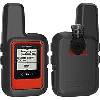 TUSITA Case for Garmin inReach Mini - Silicone Protective Cover - Handheld Satellite Communicator Accessories (Black)