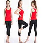 Women's Fitness Fast Dry Compression Running Sleeveless Athletic Tank Top 2 Pack