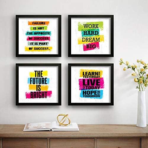 Work Hard Dream Big Motivational UV Coated Home Decorative Gift