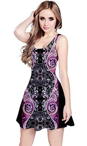 CowCow Dark Damask Sleeveless Dress, Dark Damask - M