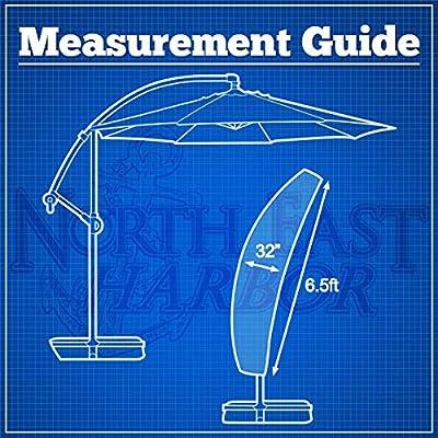 North East Harbor Umbrella Cover for Protective Storage 10' Ft Hanging Umbrella Offset Tan Color + KapscoMoto Keychain : Garden & Outdoor