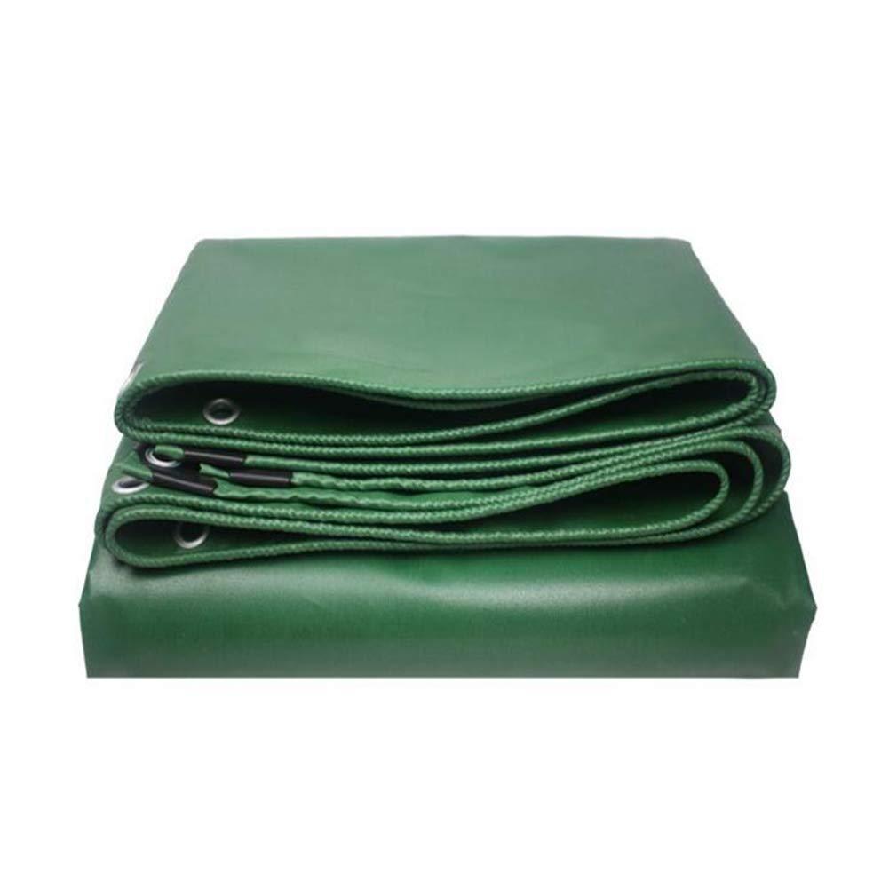 DALL ターポリン タープ 防水 緑 多目的 PVC 550g /m² キャンプ アウトドア 旅行 (色 : Green, サイズ さいず : 3*3m) 3*3m Green B07KQRT54P