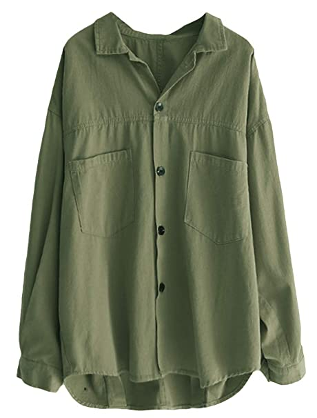 Amazon.com: Minibee - Camisa de algodón para mujer, manga ...