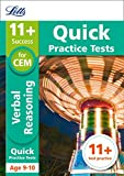 Letts 11+ Success – 11+ Verbal Reasoning Quick Practice Tests: for the CEM tests