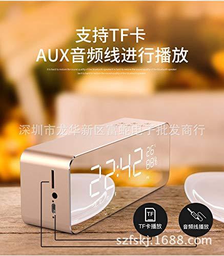 xingganglengyin Alarm Clock Speaker Audio Wireless Bluetooth subwoofer New Creative Bedside Mirror by xingganglengyin (Image #4)