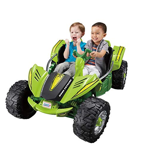 - Fisher-Price Power Wheels Dune Racer Extreme 12-Volt Battery-Powered Ride-On (Green)