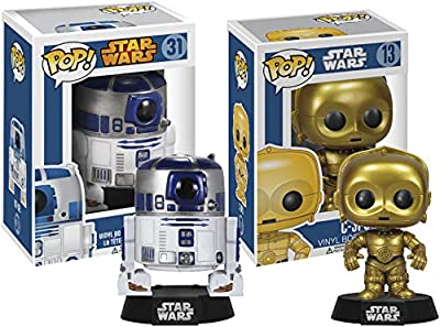 POP Star Wars Classic Droid Bundle with R2-D2 #31 and C-3PO #13 (2 Items)