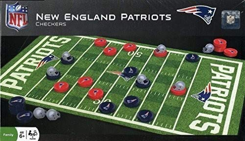 MasterPieces NFL New England Patriots Checkers Game ()