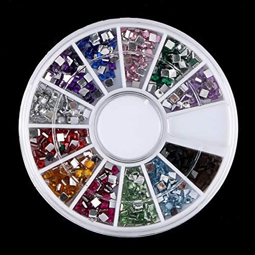 (Nail Art Acrylic Tips Decoration Glitter Rhinestones Gem Star Moon Mix Shape (Shape - Square))