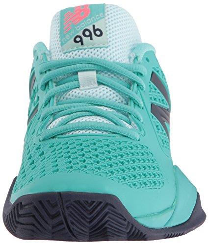 New Balance Womens 996v2 Tennis Shoe Teal/Navy
