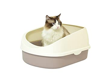 Semicerrado Inodoro para Gato Arenero para Gatos Arenero Gatos De Diferentes Colores Bandeja Higienica Gatos PráCtico WC para Gatos MS-011, Gray: Amazon.es: ...
