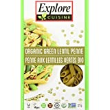 Explore Cuisine Organic Green Lentil Penne, 6 Count, 1.4 Kg