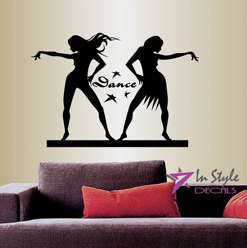 Wall Vinyl Decal Home Decor Art Sticker Dancing Girls Salsa Dancers People Room Removable Stylish Mural Unique Design