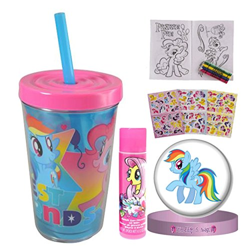 My Little Pony Girls Fun Sip Favor Cup, Easter Basket Filler, Stocking Stuffer or Party Favor! Pre-Filled & Ready for Giving! Includes Keepsake Tumbler, Stickers & -