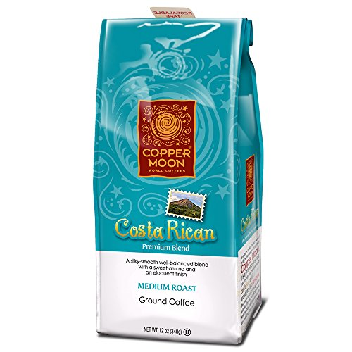 Ground Rican Costa Coffee (Copper Moon Coffee Costa Rican, Ground, 12 Ounce)