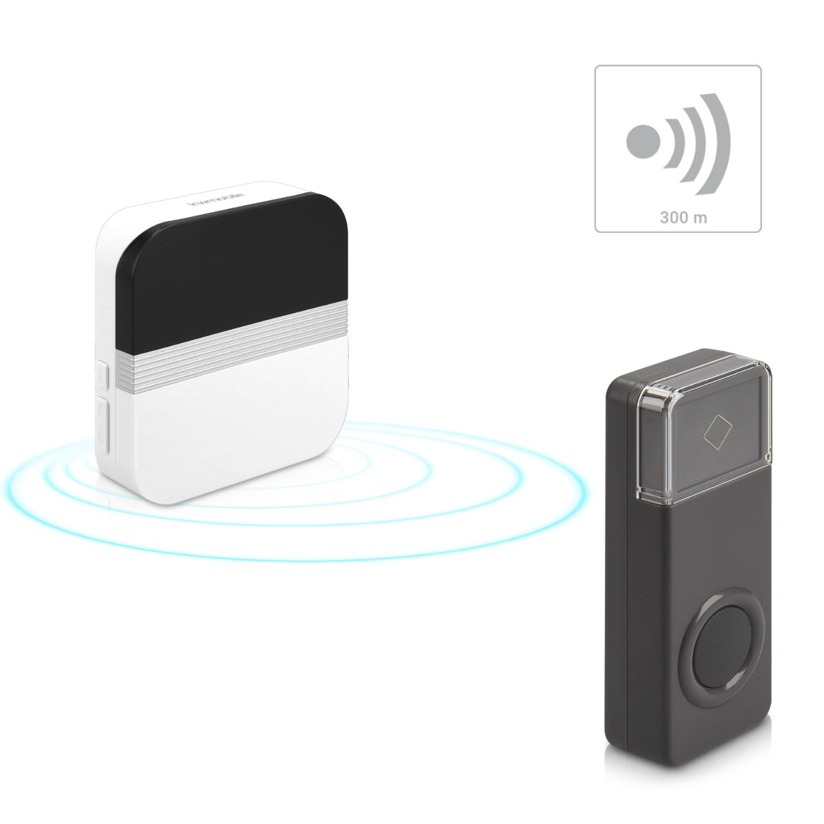 Kleingeräte Haushalt Streng Funk Türklingel Wireless Türgong Led Leuchte Tür Gong Klingel Glocke Door Bell