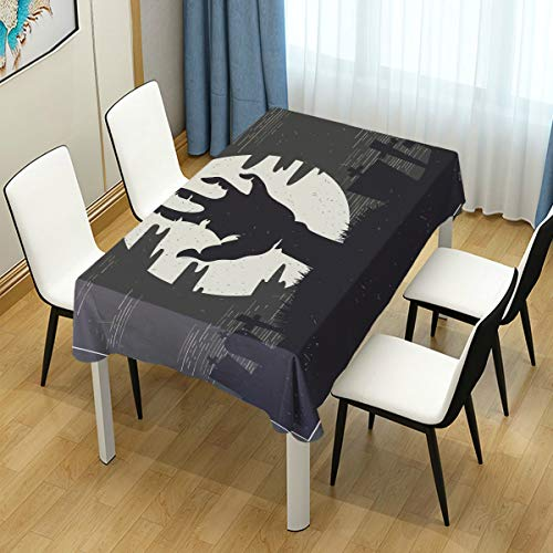 HELVOON Halloween Zombie Hand Rectangle Tablecloth Wedding Party Dining Room Picnic Kitchen Washable Table Cover, 60 W X 90 L inches -