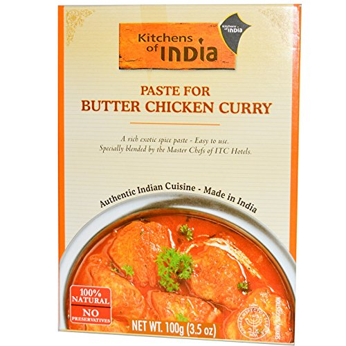 Kitchens of India, Paste for Butter Chicken Curry, 3.5 oz (100 g) (Pack of 3)