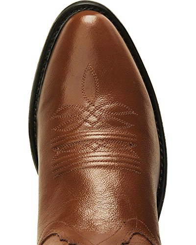 Old West Men's Smooth Leather Cowboy Boot Medium Toe Tan 10 D(M) US