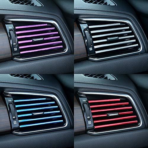 (Flurries  10pcs Universal Car Air Conditioner Outlet Vent Decoration Strip, Auto-Motive Interior Accessories - Colorful Shiny Cover (Purple) )