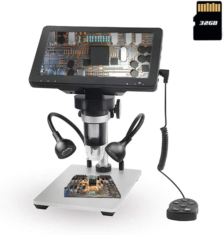 USB Microscope Rotation Base Adult for Student Supports Video Recording HD Microscope