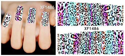 Nail Art Water Transfer Stickers Animal Print Leopard - XF1486 Nail Sticker Tattoo - FashionDancing