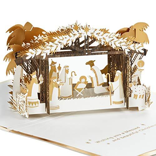 Hallmark Signature Paper Wonder Religious Pop Up Christmas Card (Nativity) (Greetings Mom Christmas For Card)