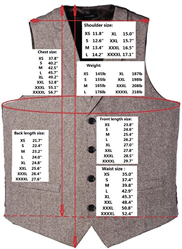 Herringbone Navy Collar amp;boaz Wool Tailored Waistcoat 2pockets Ruth 4buttons Herringbone tweed Suit fIqFqB