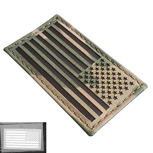 Multicam Infrared IR USA American Reversed Flag 3.5x2 IFF Tactical Morale Fastener Patch