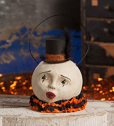 Vintage Paper Mache Halloween Decorations (Bethany Lowe TJ7784 Halloween Magic Moon Bucket)