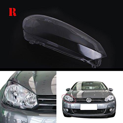 General Mega Headlight Lens Plastic Shell Cover For VW Golf MK6 GTI 2010-2013 (Right - Lenses Scratched Plastic