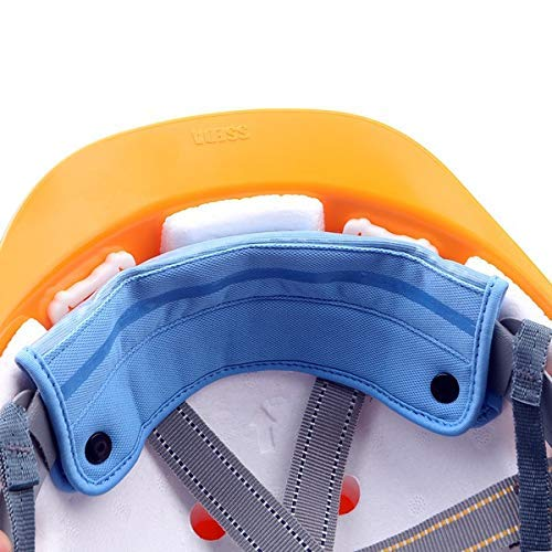 2 Pieces Washable Snap On Hard Hat Sweatband Liner/Sweat Absorber (2pcs, Blue) ()