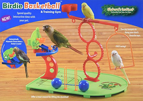 Nature's Instincts Birdie Basketball Pet Toy ()