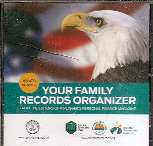 Kiplinger's Your Family Records Organizer (Win/Mac) Software [CD-ROM]
